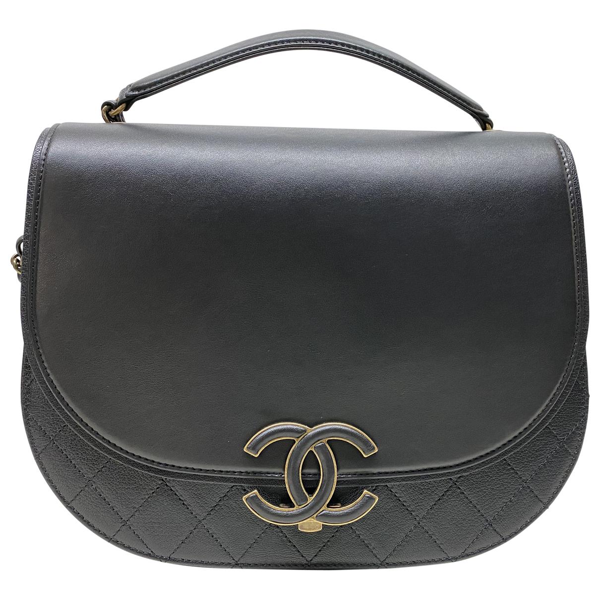 Chanel - Sac a main Coco Curve pour femme en cuir - noir