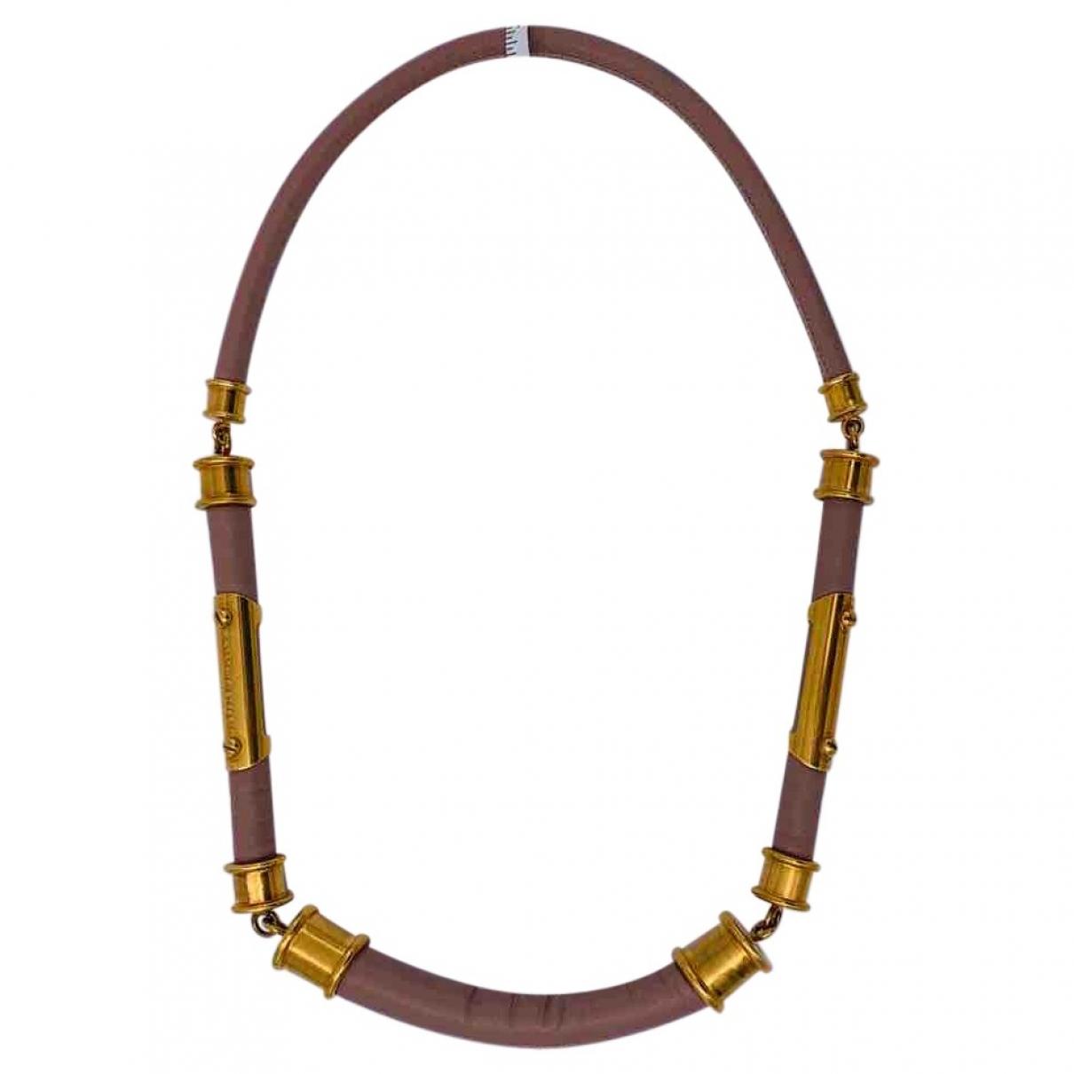 Burberry - Collier   pour femme en cuir - dore