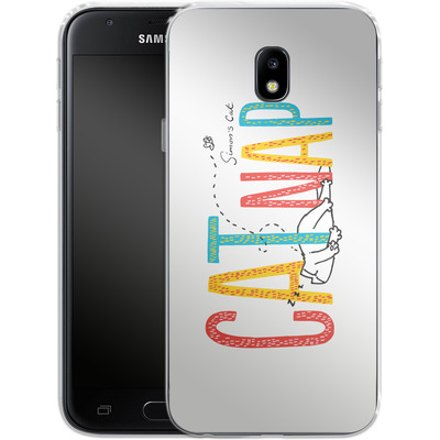 Samsung Galaxy J3 (2017) Silikon Handyhuelle - Catnap von Simons Cat