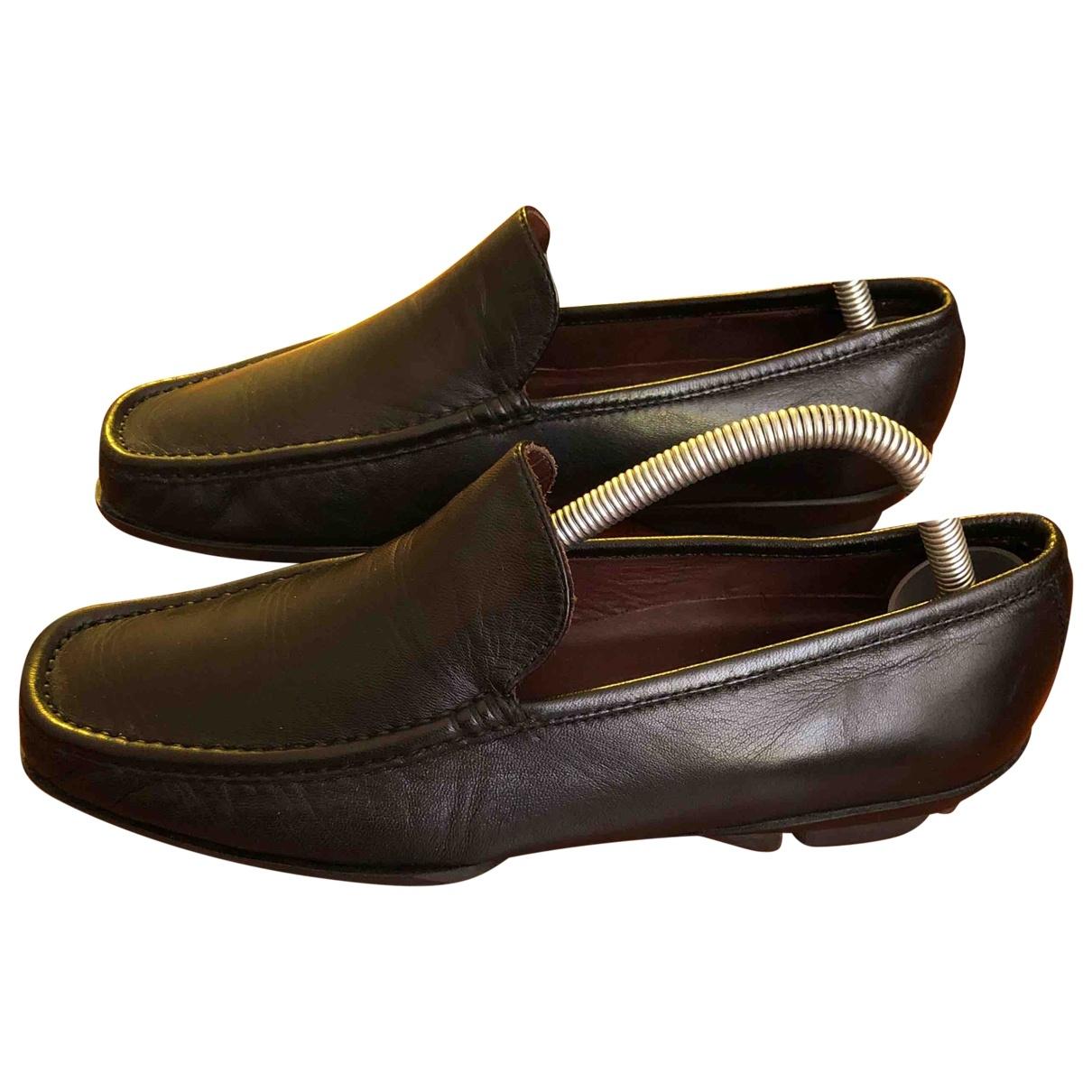 Bruno Magli \N Black Leather Flats for Men 5 UK