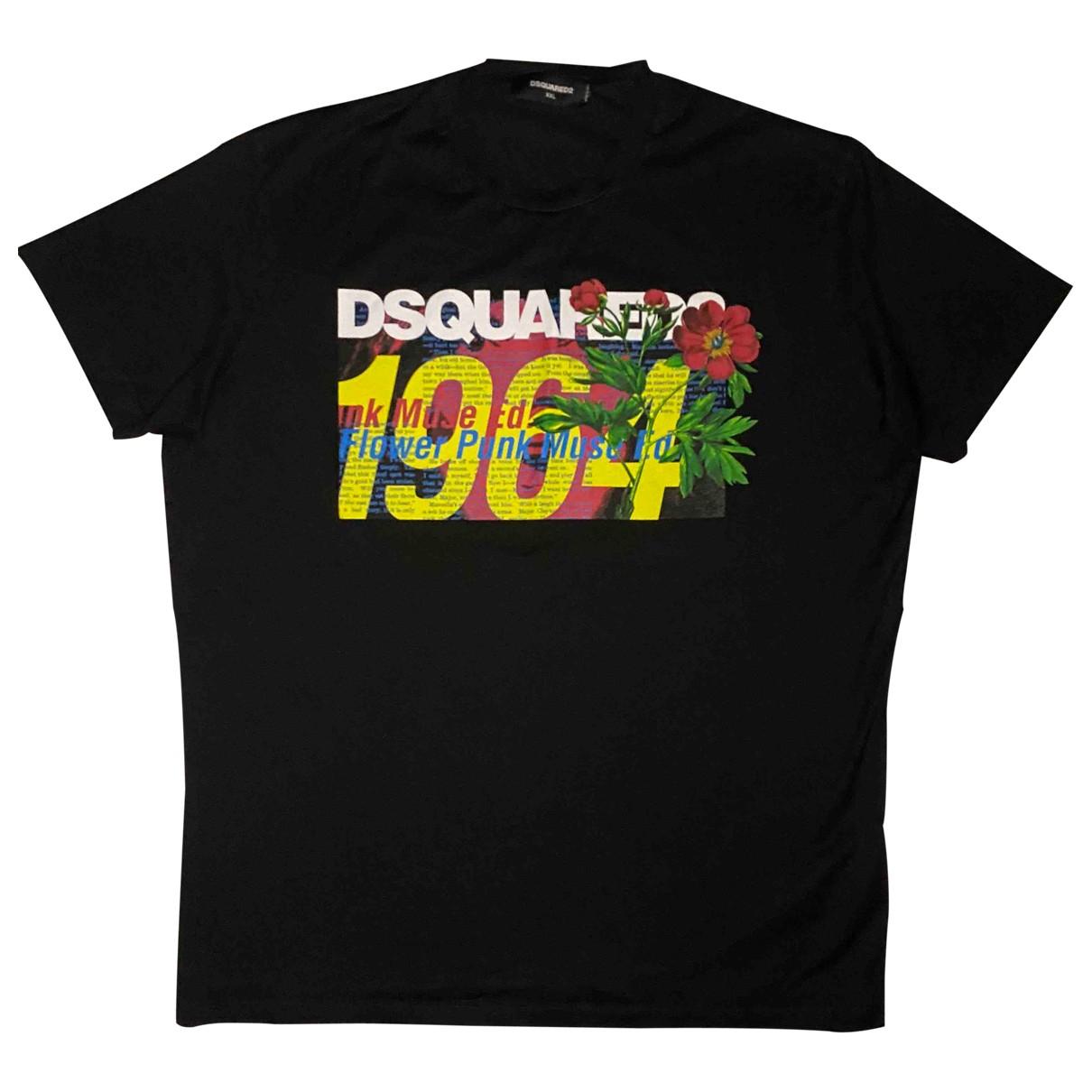 Dsquared2 - Tee shirts   pour homme en coton - noir