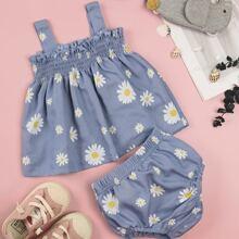 Cami Top mit Blumen Muster & Shorts
