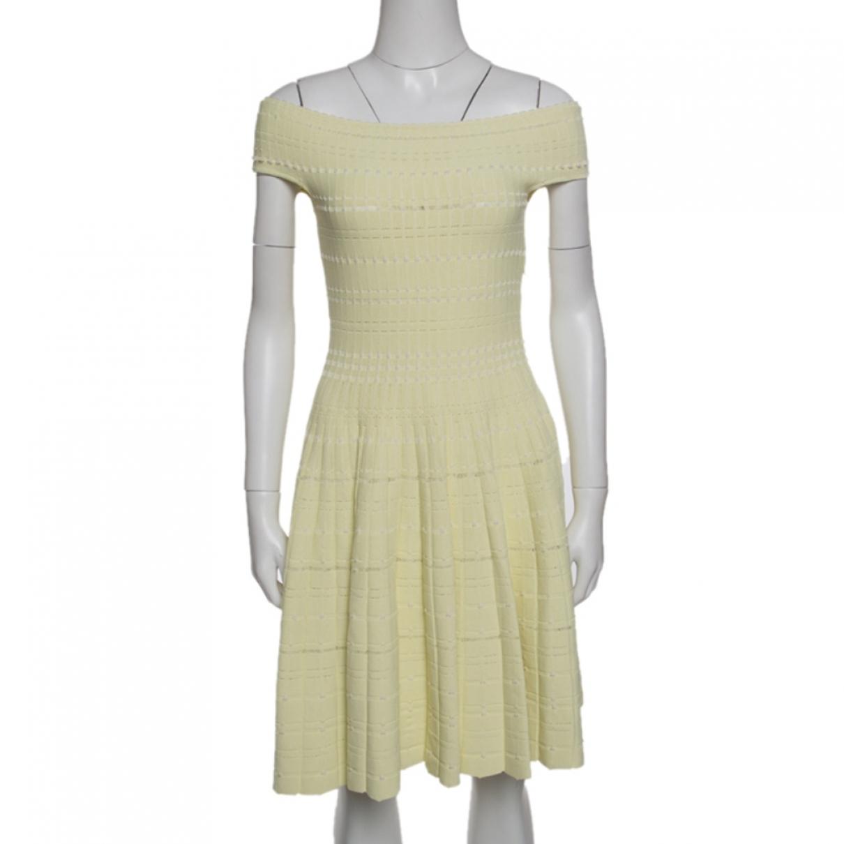 Alexander Mcqueen - Robe   pour femme en coton - jaune