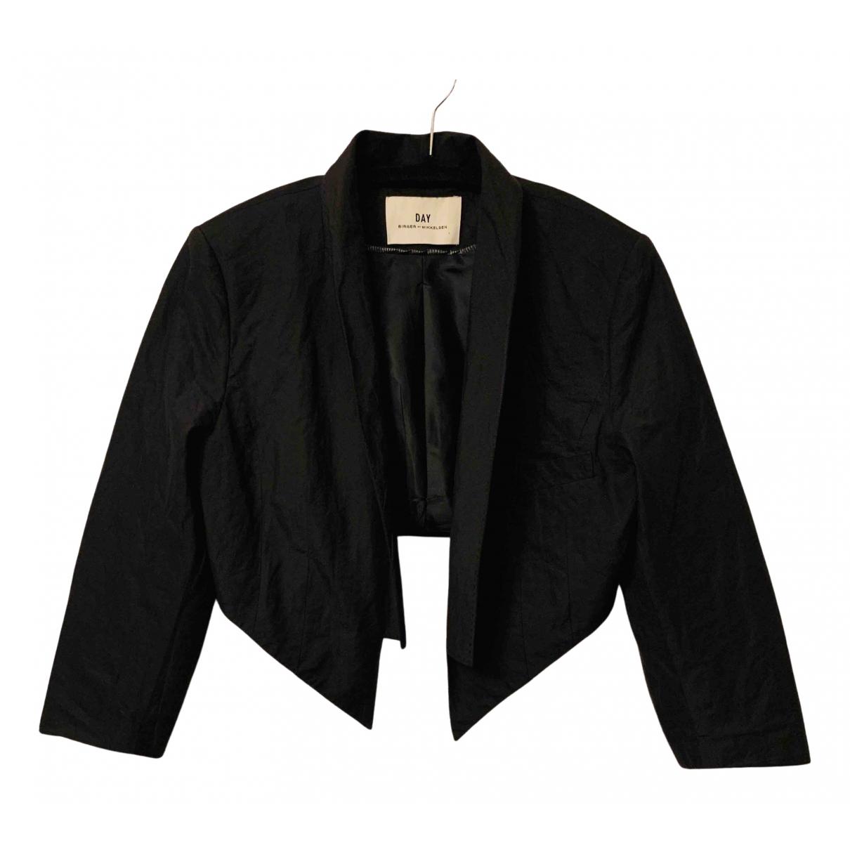 Day Birger & Mikkelsen N Black Cotton jacket for Women 40 IT