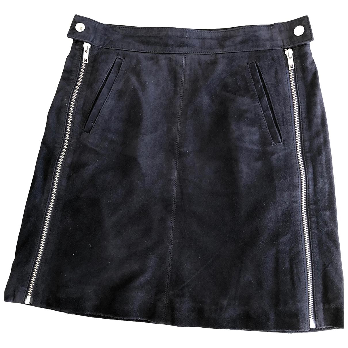 Mini falda de Cuero Comptoir Des Cotonniers