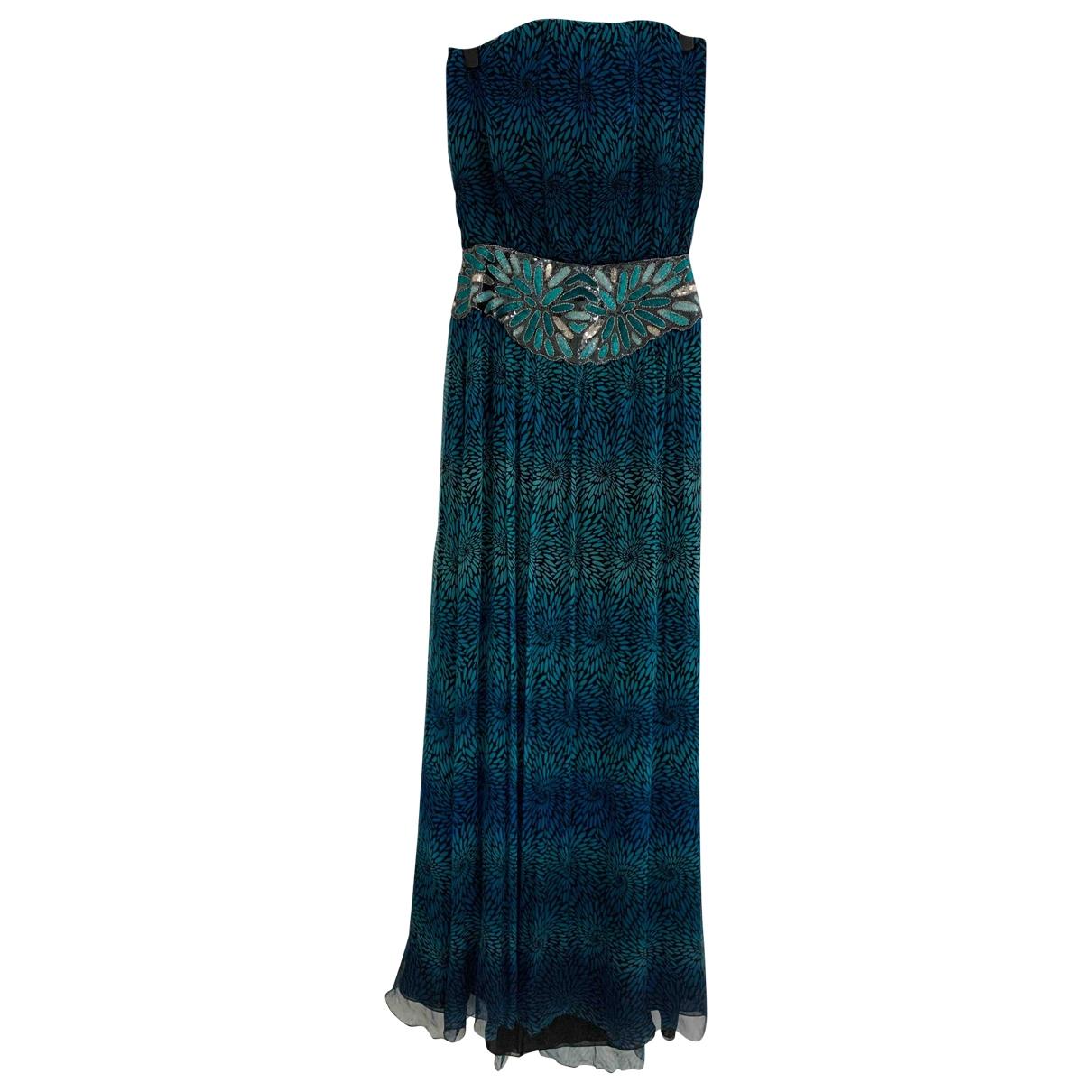 Jay Ahr \N Kleid in  Tuerkis Seide