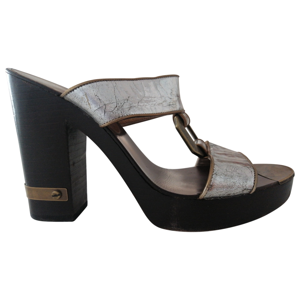 Marc By Marc Jacobs \N Silver Leather Sandals for Women 38.5 EU