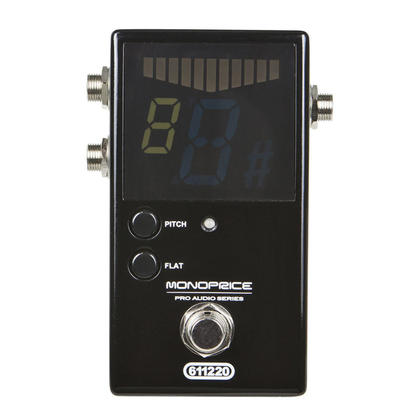 Heavy-Duty Chromatic Pedal Tuner with Activation Button - Monoprice®