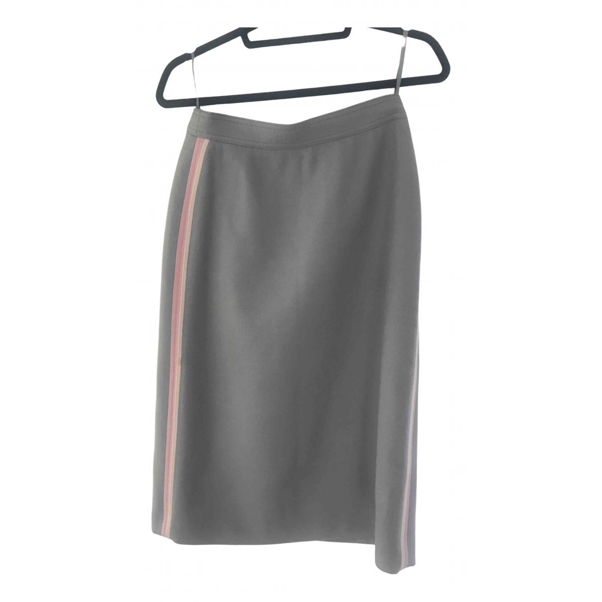 Louis Feraud \N Grey Wool skirt for Women 12 UK