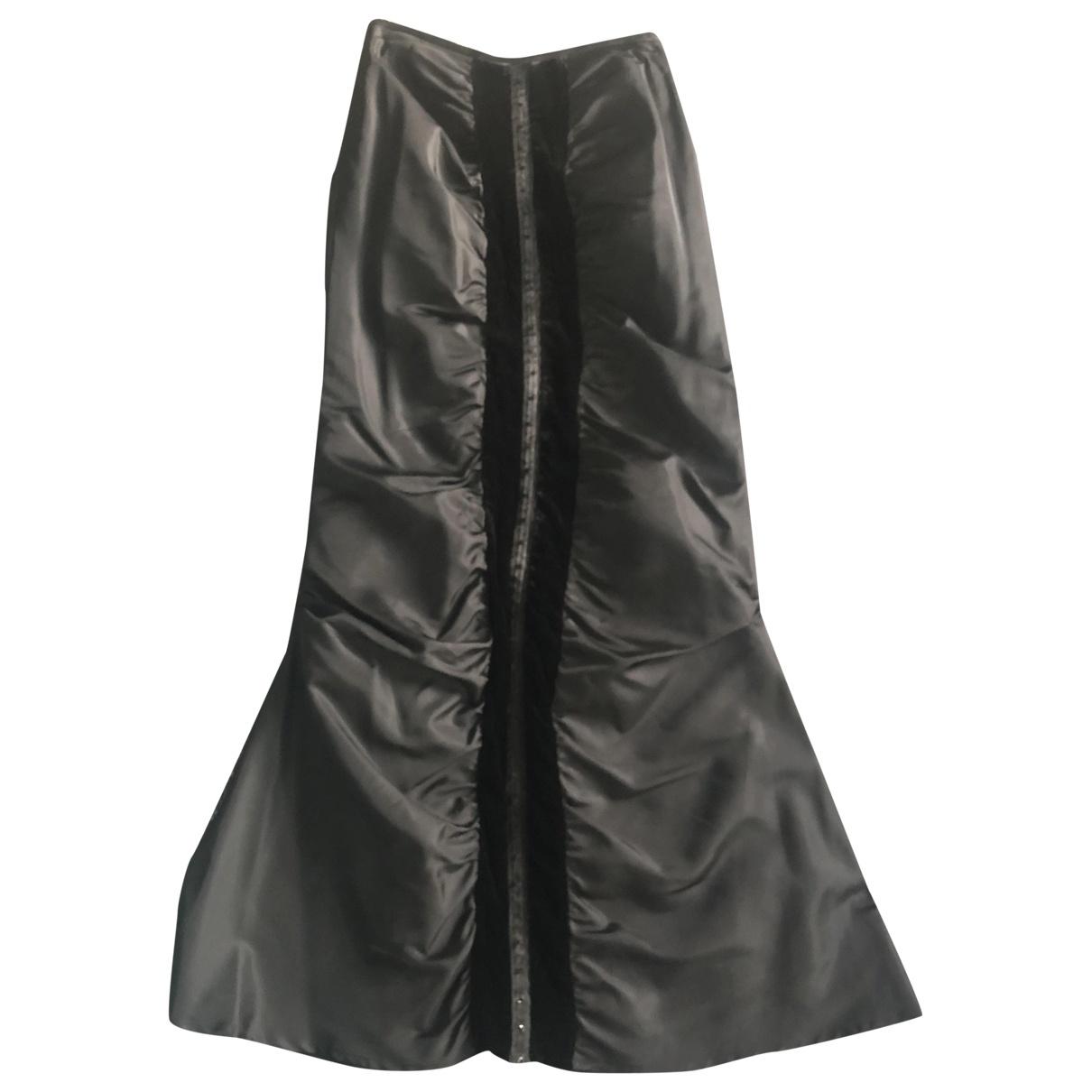 Non Signé / Unsigned \N Black Silk skirt for Women S International