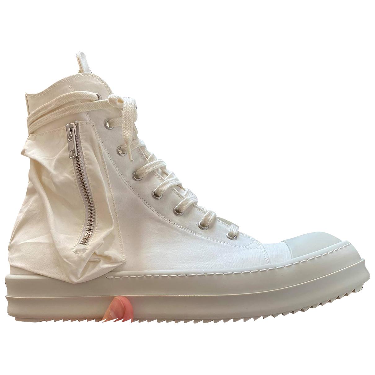 Rick Owens Drkshdw \N Sneakers in  Weiss Leinen