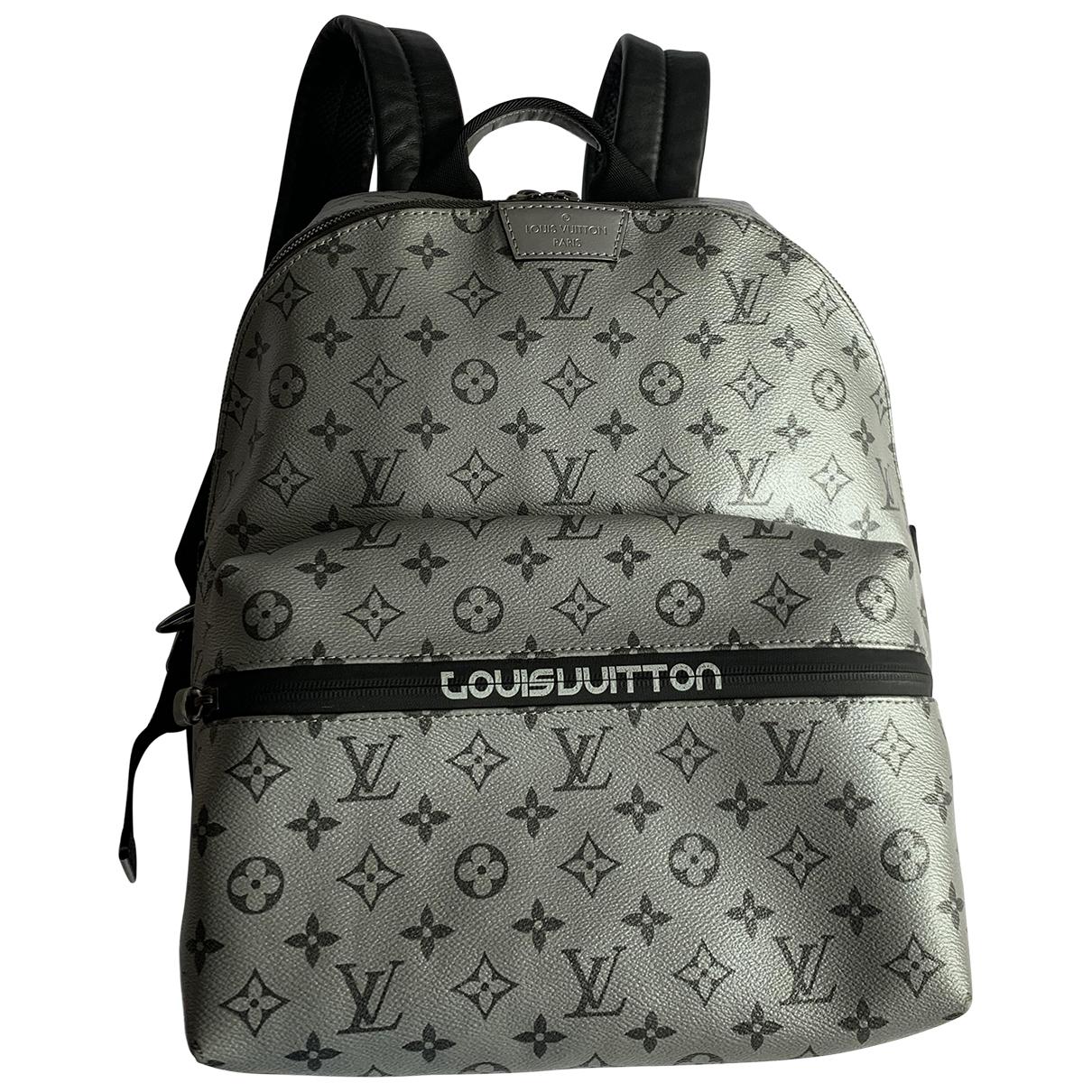 Louis Vuitton - Sac Apollo Backpack pour homme en toile - argente