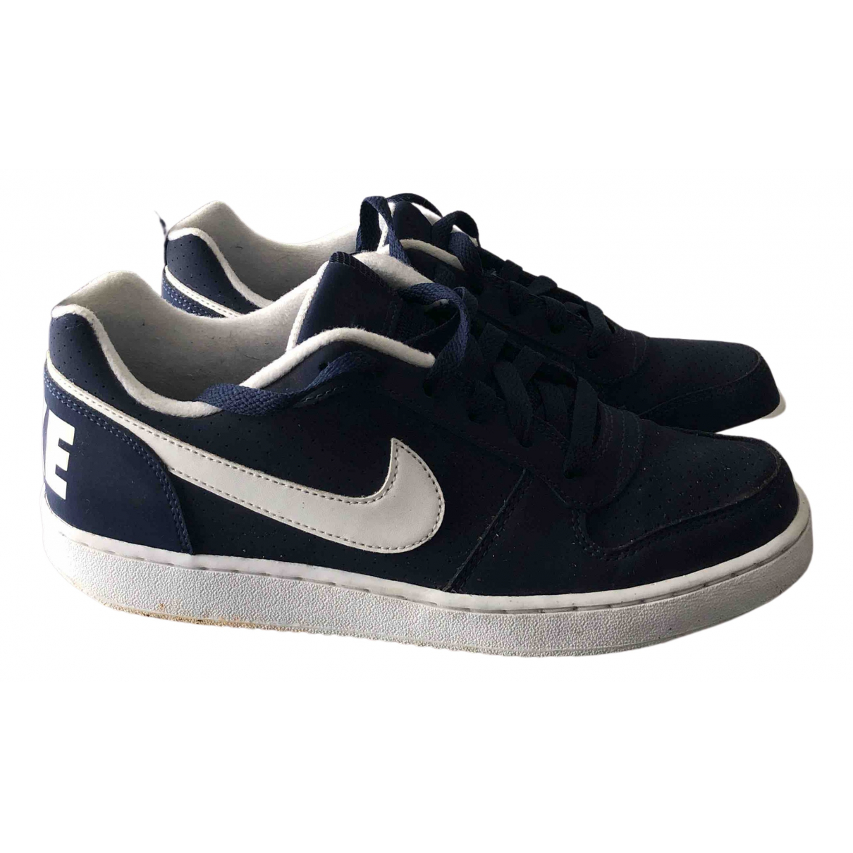 Nike \N Sneakers in  Blau Veloursleder