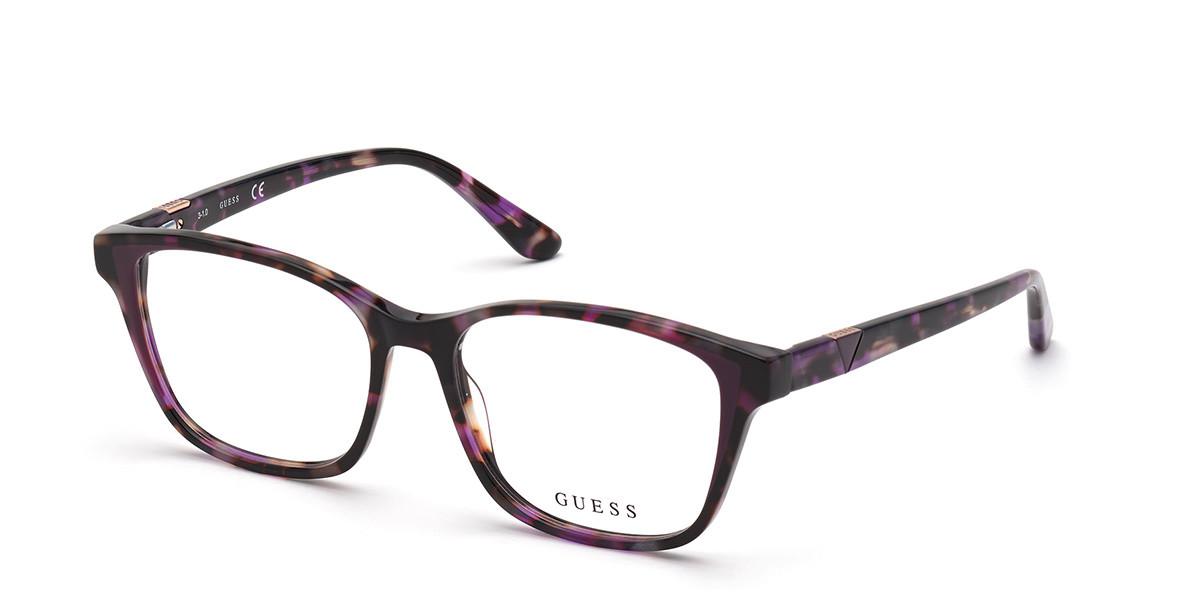 Guess GU 2810 083 Women's Glasses Violet Size 50 - Free Lenses - HSA/FSA Insurance - Blue Light Block Available