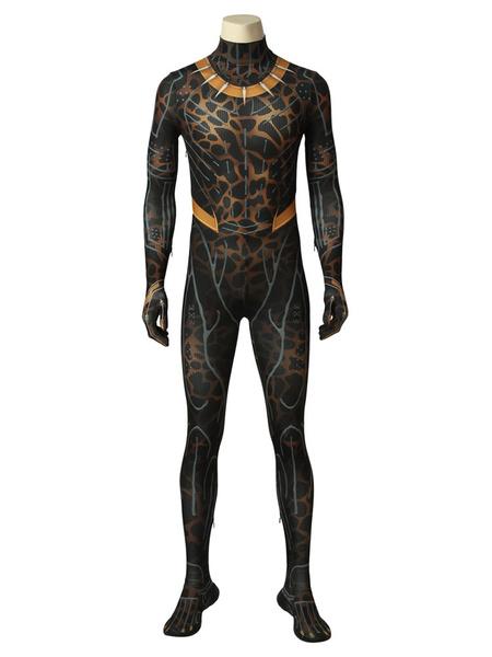 Milanoo Marvel Comics Black Panther Erik Killmonger Halloween Cosplay Costume