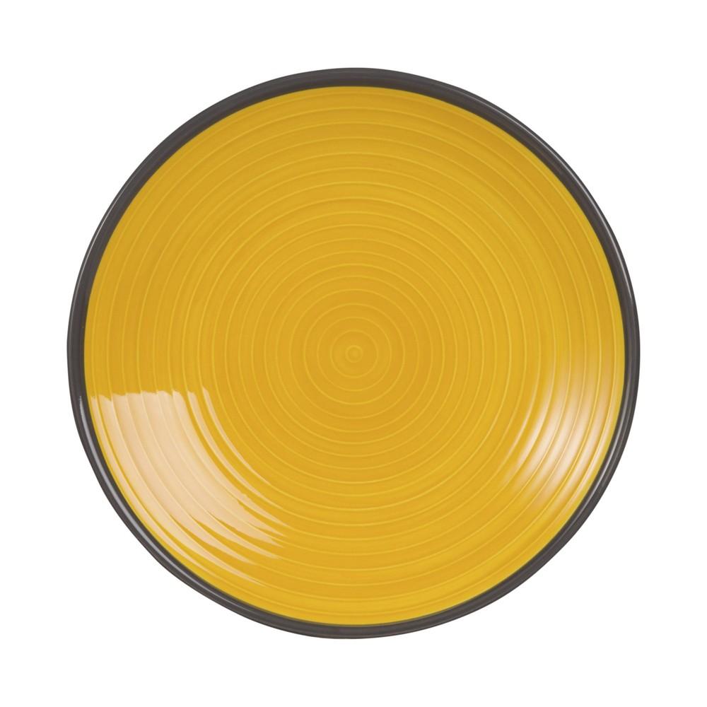 Dessertteller aus gelber Fayence