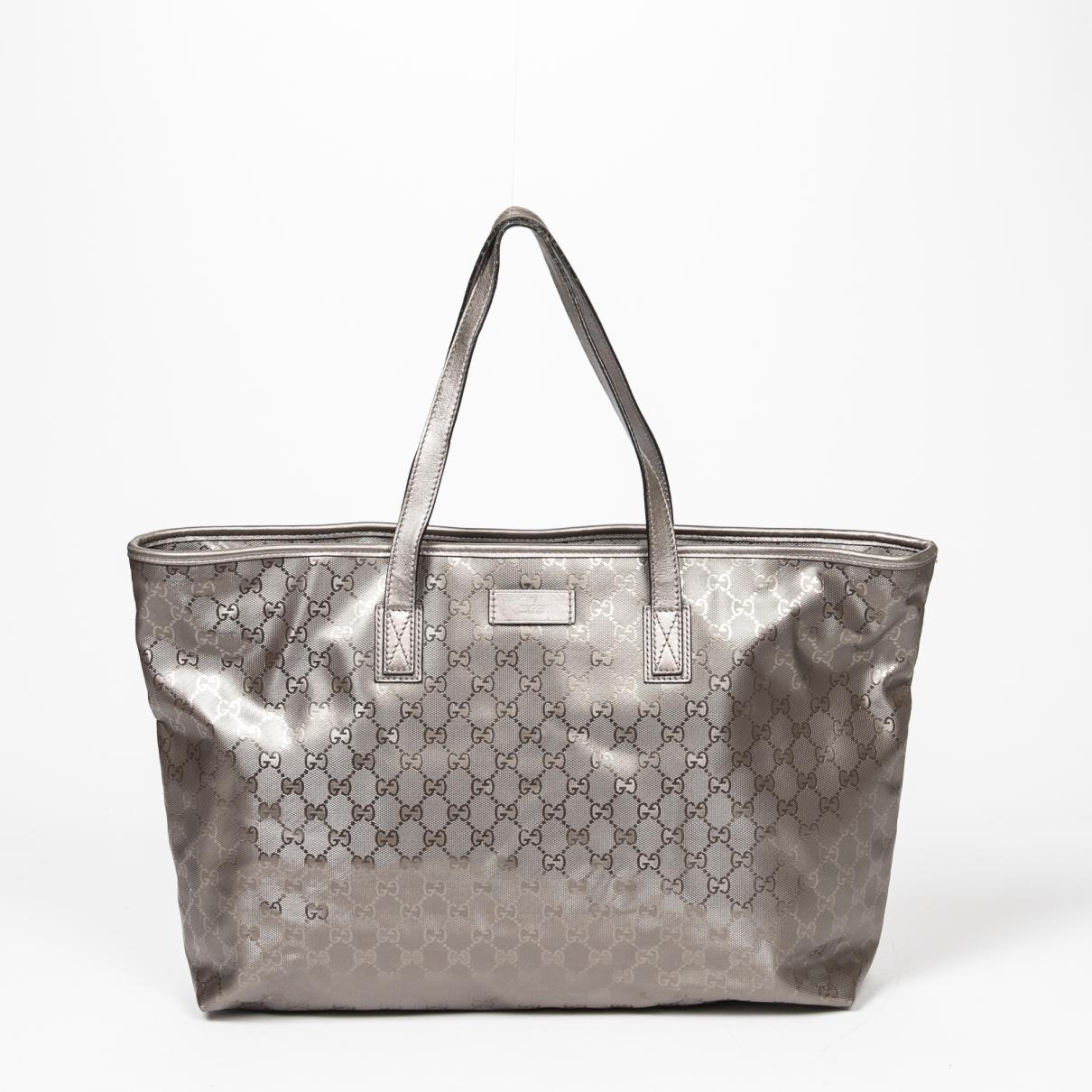 Gucci \N Handtasche in  Grau Leinen
