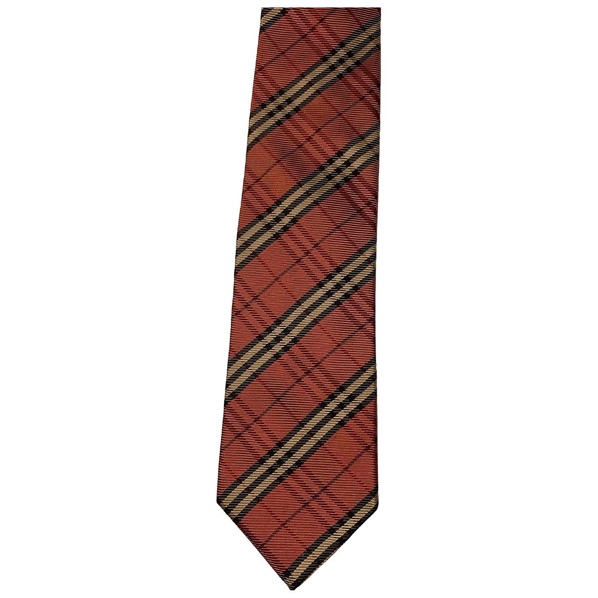 Burberry - Cravates   pour homme en soie - orange