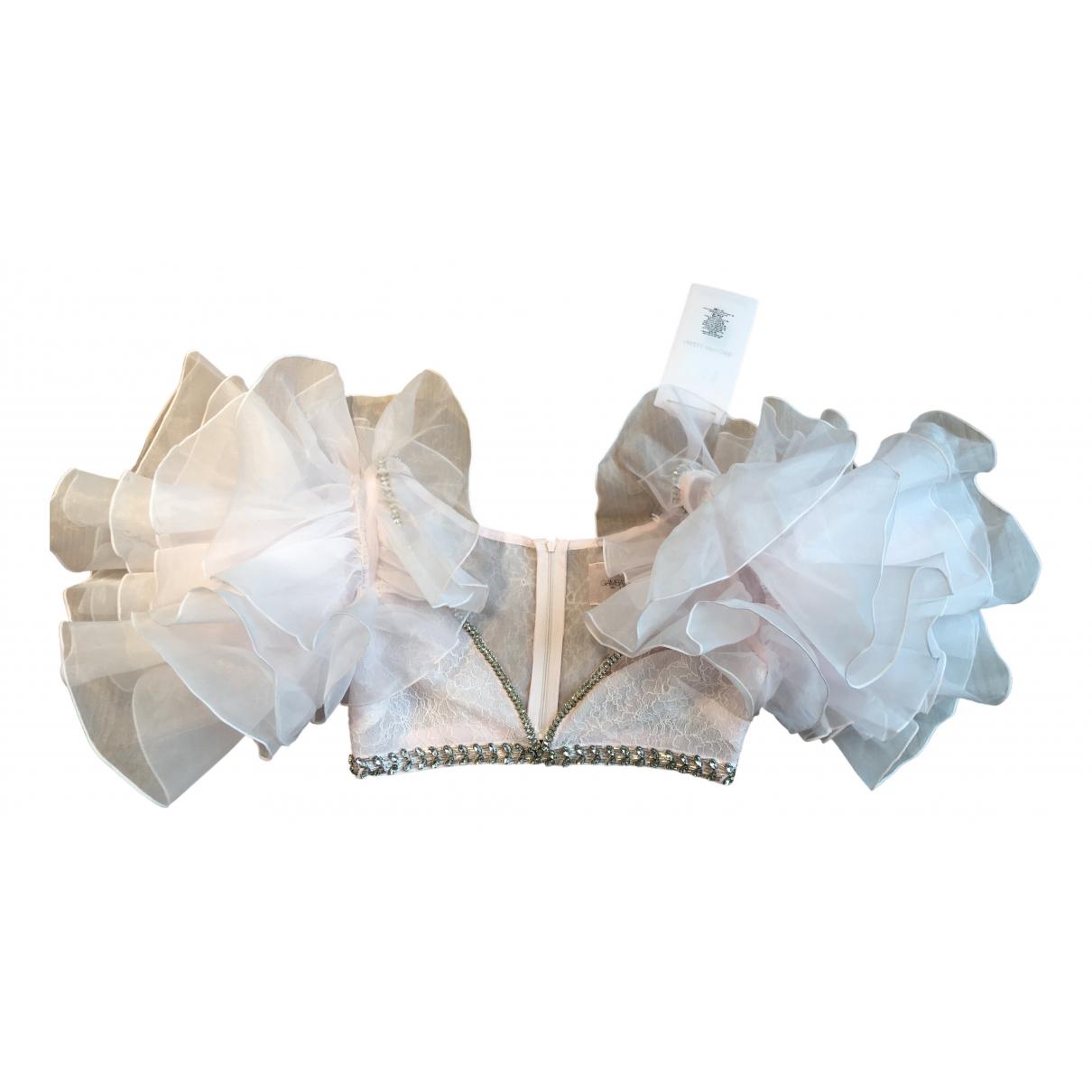 Giambattista Valli X H&m - Top   pour femme en dentelle - rose
