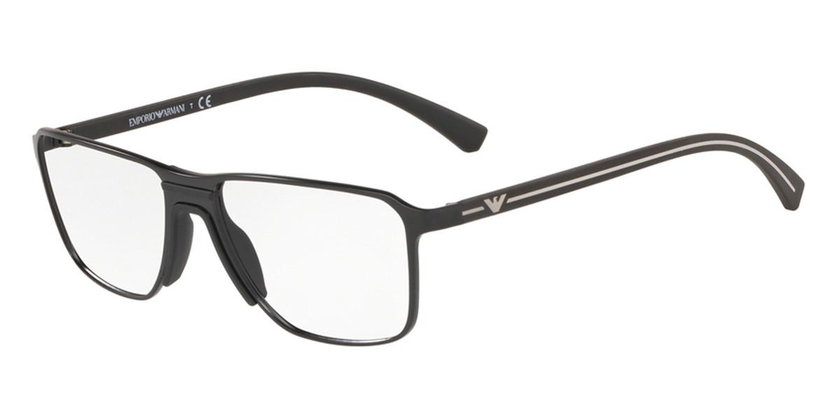 Emporio Armani EA1089 3001 Men's Glasses Black Size 54 - Free Lenses - HSA/FSA Insurance - Blue Light Block Available