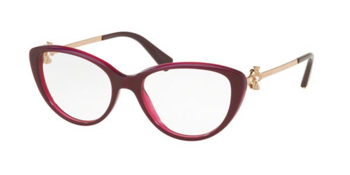 Bvlgari BV4146B 5426 Women's Glasses Red Size 52 - Free Lenses - HSA/FSA Insurance - Blue Light Block Available