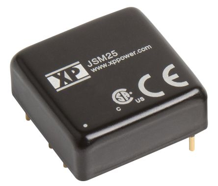XP Power JSM25 25W Isolated DC-DC Converter Through Hole, Voltage in 9 → 18 V dc, Voltage out ±15V dc