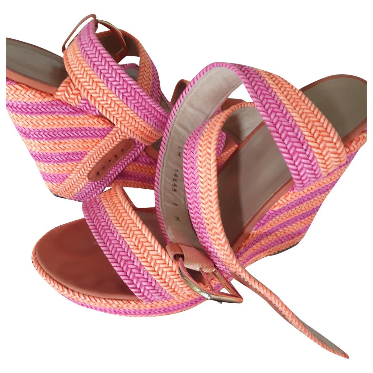 Stuart Weitzman - Sandales   pour femme en cuir - multicolore
