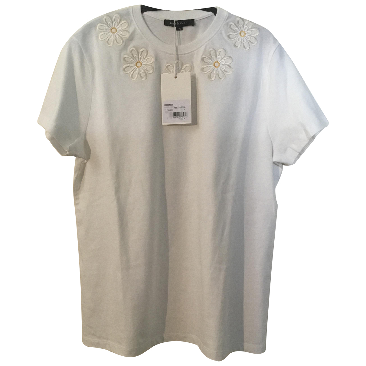 Tara Jarmon - Top   pour femme en coton - blanc
