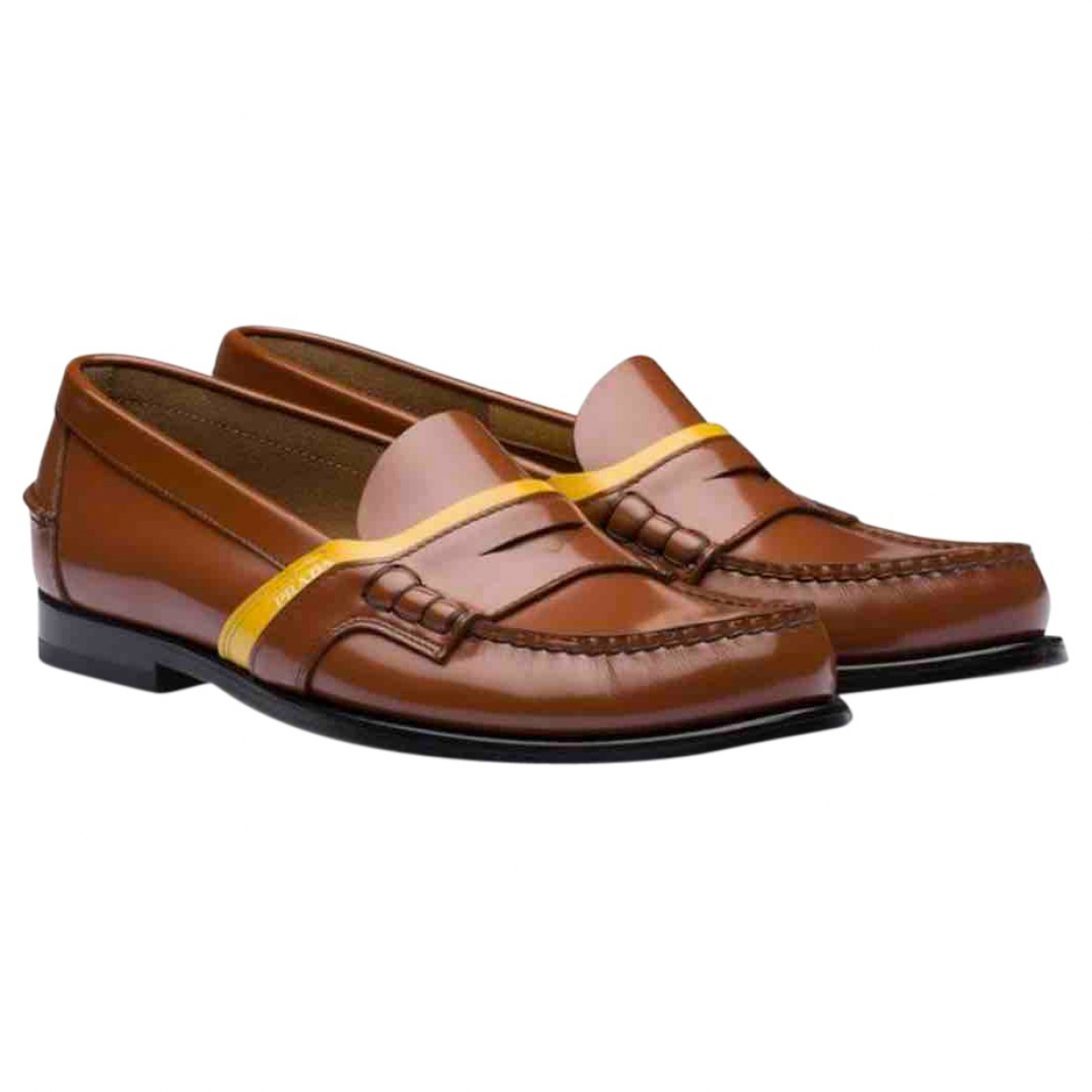 Prada \N Camel Leather Flats for Men 9.5 UK