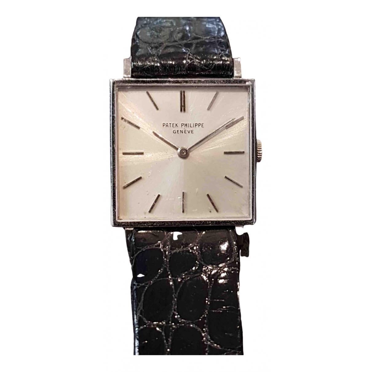 Patek Philippe \N Uhr in  Silber Weissgold