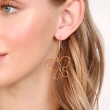 1pair Butterfly Outline Hook Back Earrings