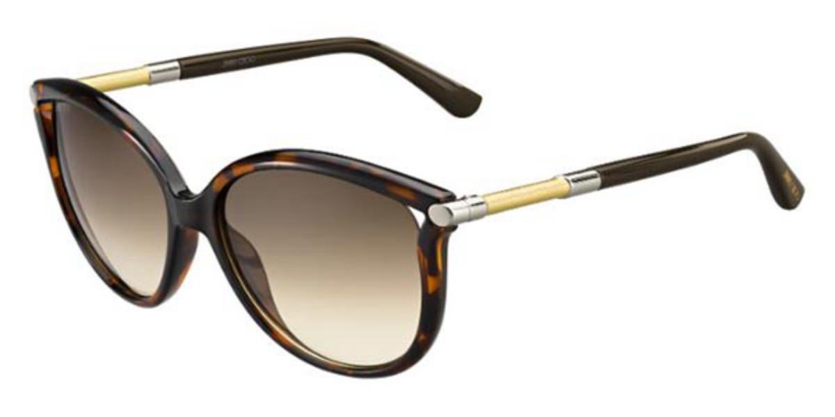 Jimmy Choo Giorgy/S SDO/JD Women's Sunglasses Tortoise Size 57