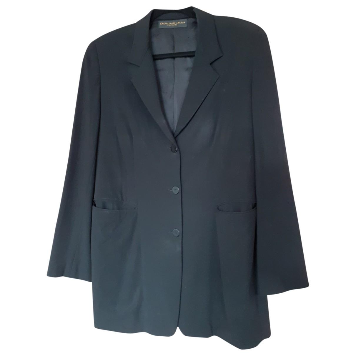 Donna Karan \N Black Wool jacket for Women 46 FR