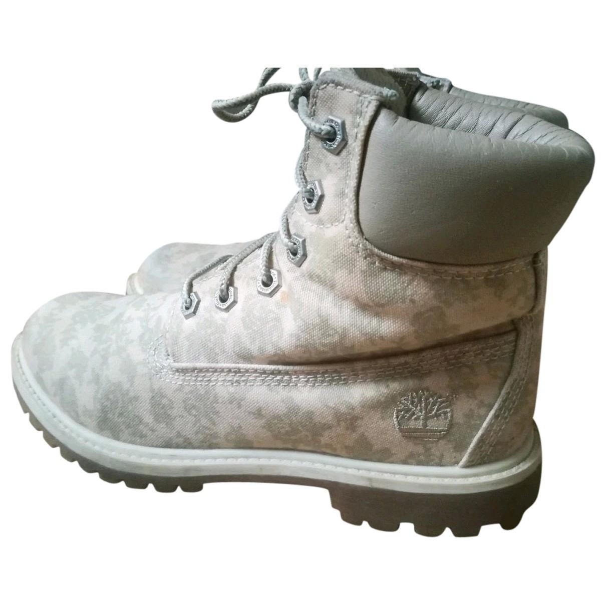 Timberland - Boots   pour femme en toile - beige
