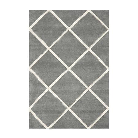 Safavieh Jayma Geometric Hand Tufted Wool Rug, One Size , Gray