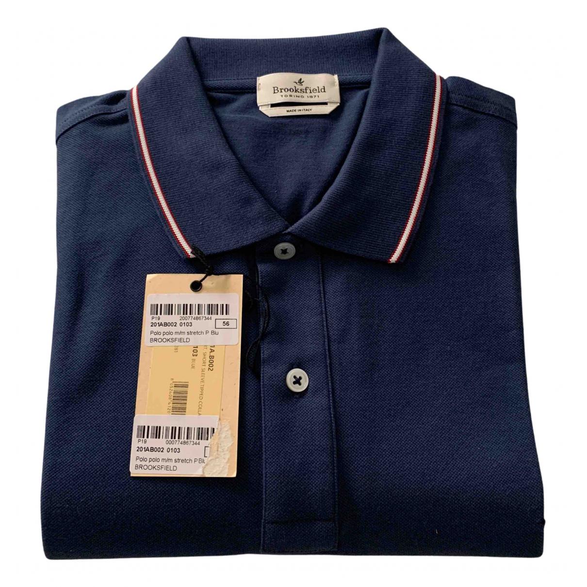 Brooksfield \N Poloshirts in  Blau Baumwolle