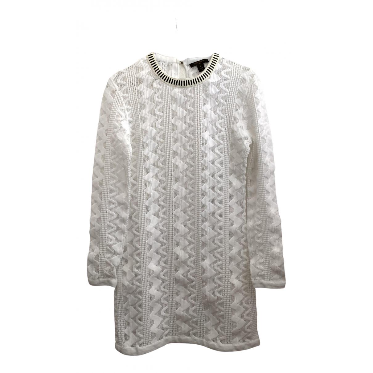 Louis Vuitton \N Kleid in  Weiss Baumwolle