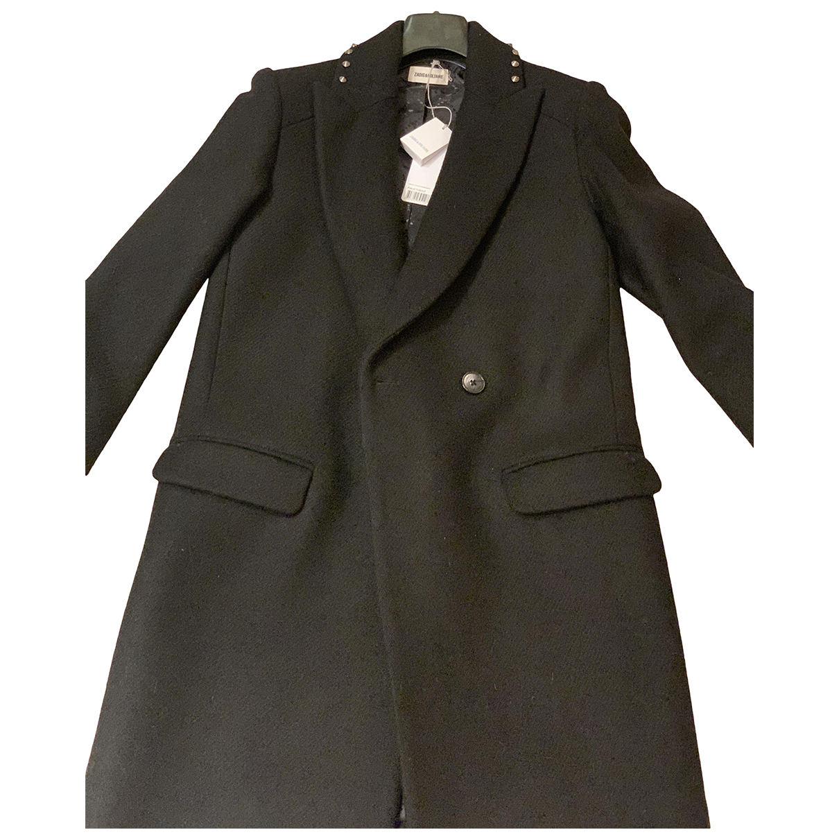 Zadig & Voltaire N Black Wool coat for Women XS International