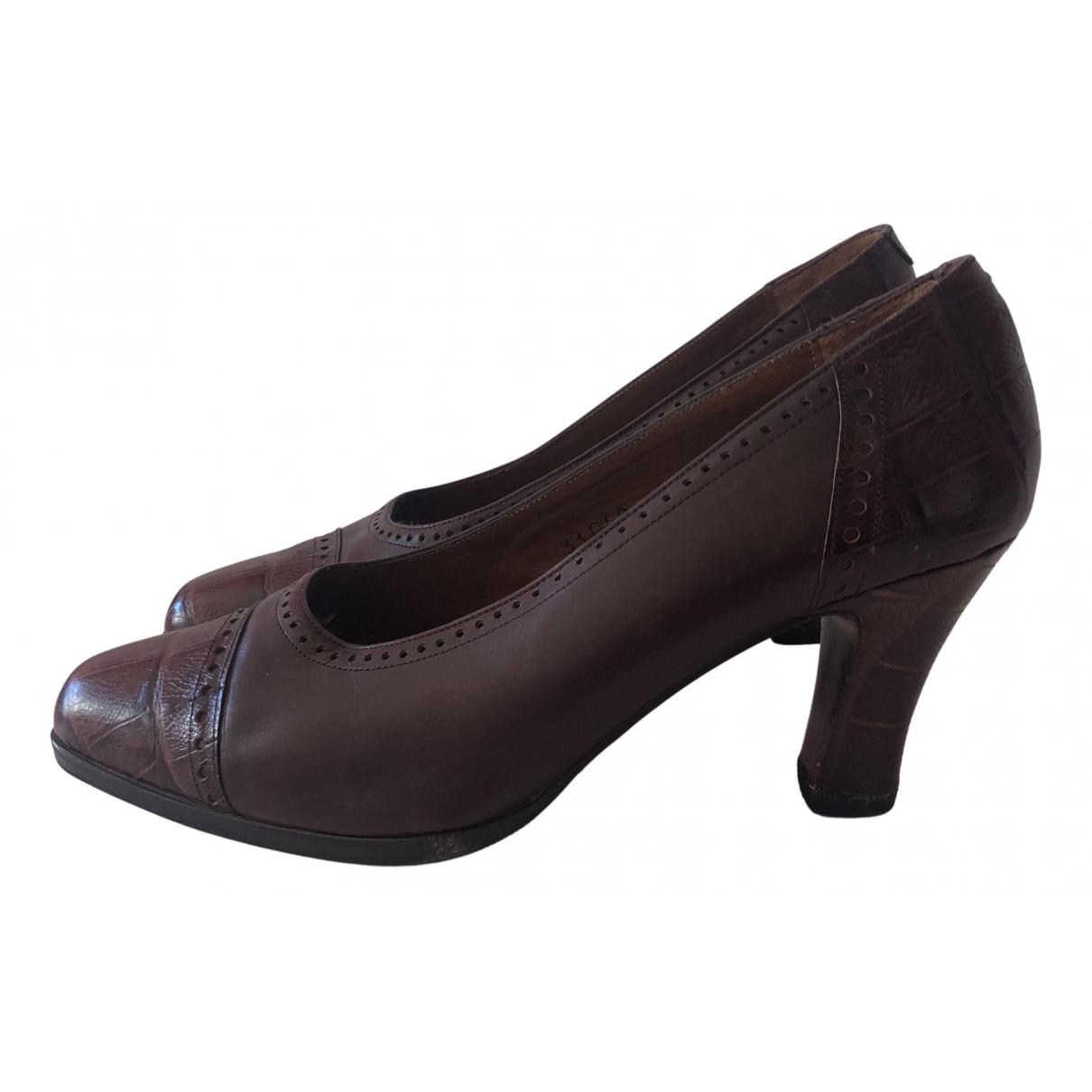 Balenciaga - Escarpins   pour femme en cuir - marron