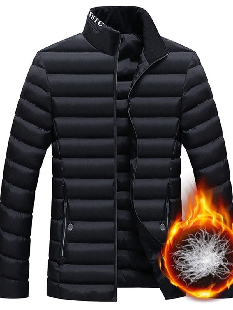 Ericdress Letter Zipper Casual Style Men's Down Jacket