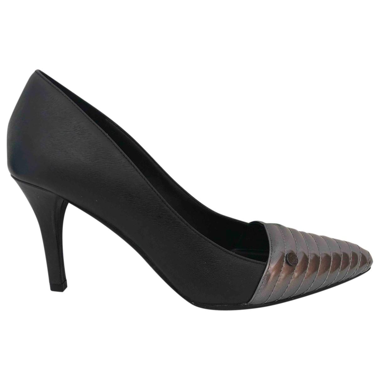 Armani Jeans \N Black Leather Heels for Women 37 EU