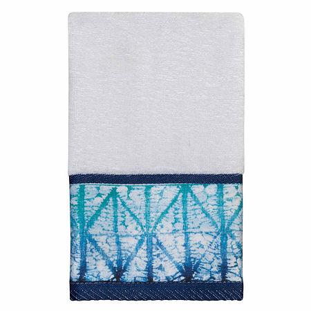 Shibori Bath Towel Collection, One Size , Blue