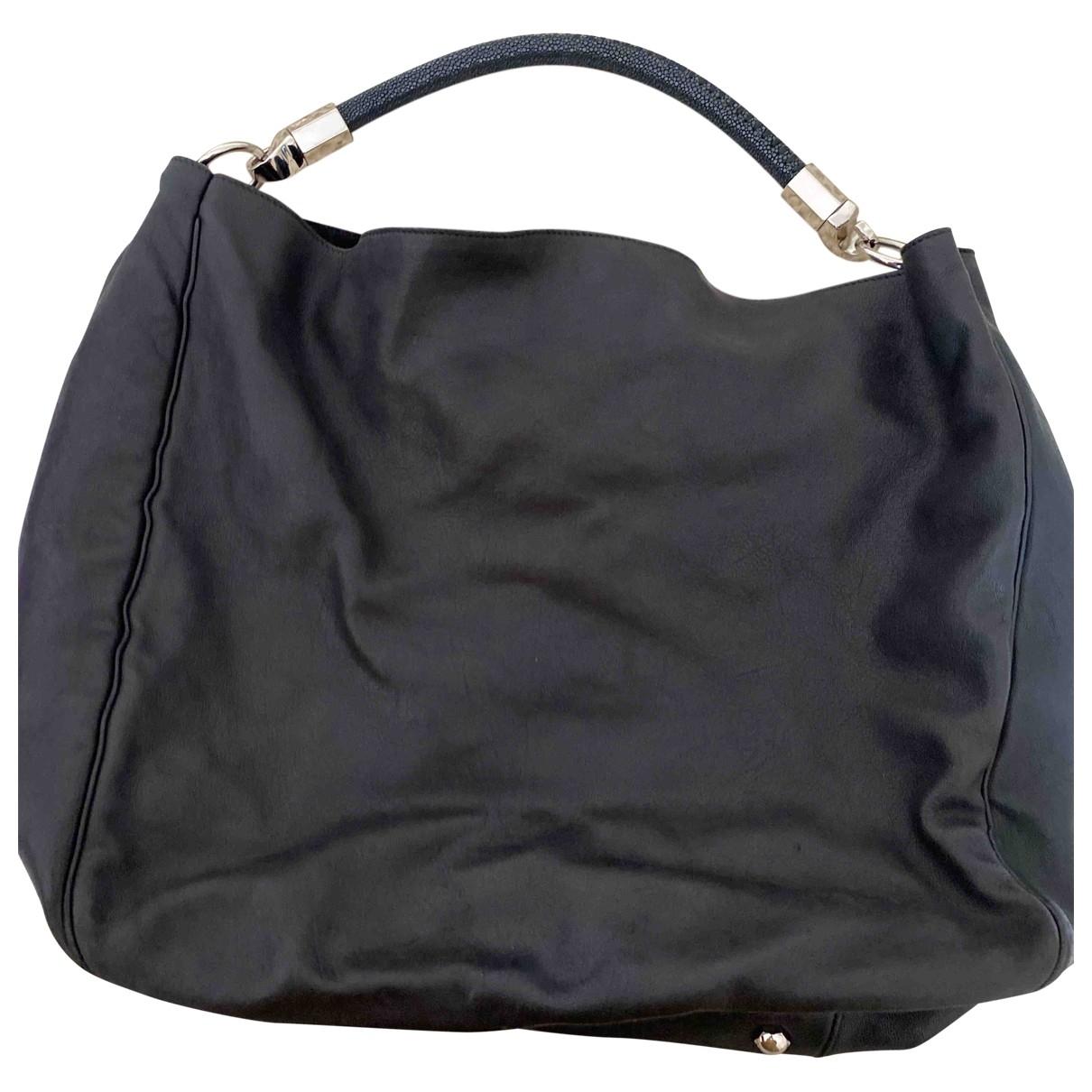 Yves Saint Laurent Roady Black Leather handbag for Women \N