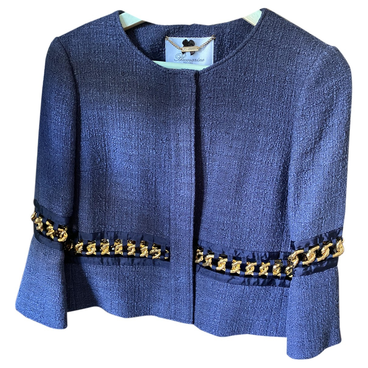 Blumarine N Blue Cotton jacket for Women 40 FR