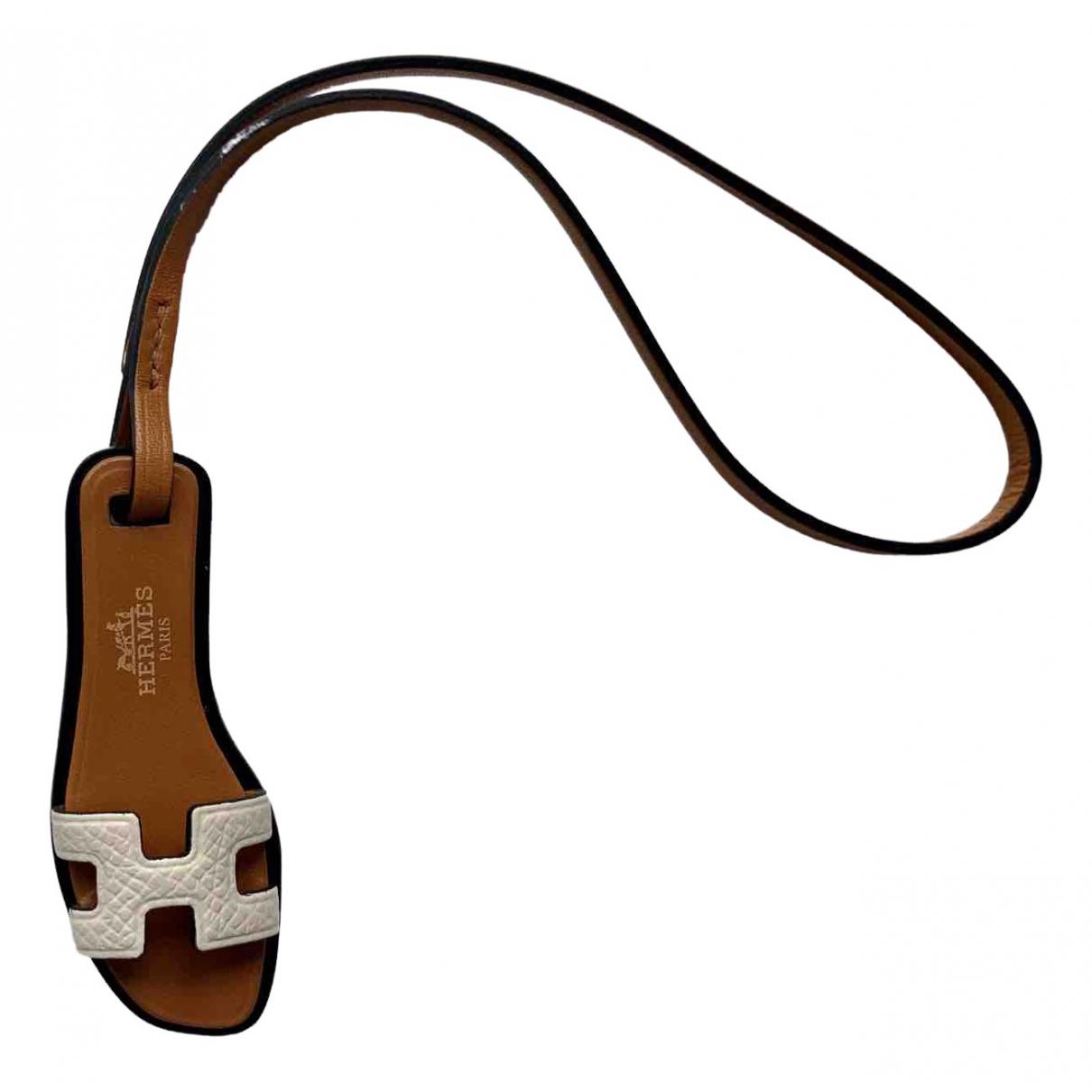Hermes - Bijoux de sac Oran Nano Charm pour femme en cuir