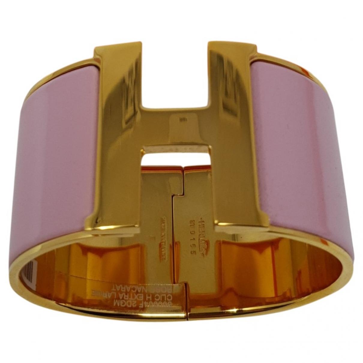 Hermès Clic H Pink Metal bracelet for Women \N