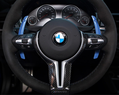 AutoTecknic Competition Steering Shift Levers Paddles Yas Marina Blue BMW M3 F80 15-19