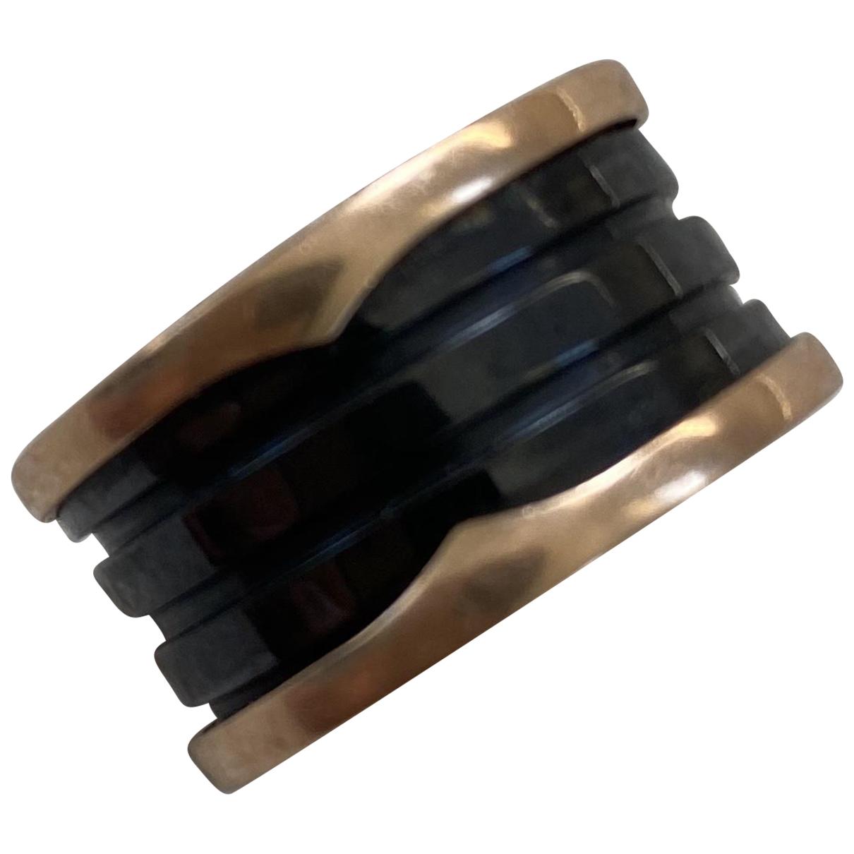 Bvlgari - Bague B.Zero1 pour femme en or rose - noir