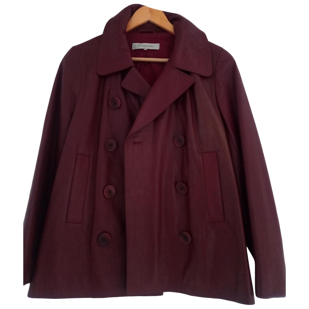 Gerard Darel \N Burgundy Leather jacket for Women 40 FR