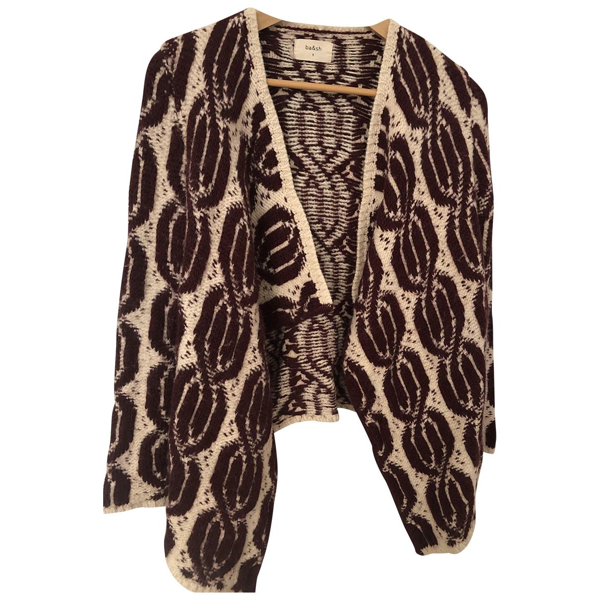 Ba&sh - Pull   pour femme en laine - bordeaux